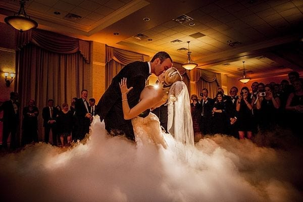 wedding dancing on the cloud