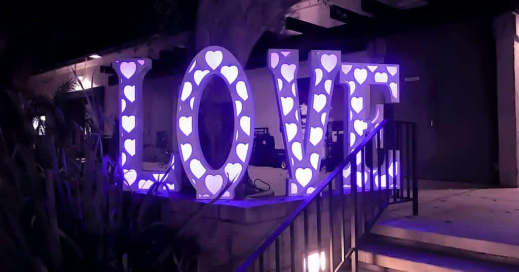 Love Letter Outside Wedding